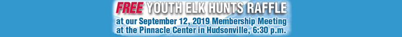 2019 Youth Elks Hunt Raffle