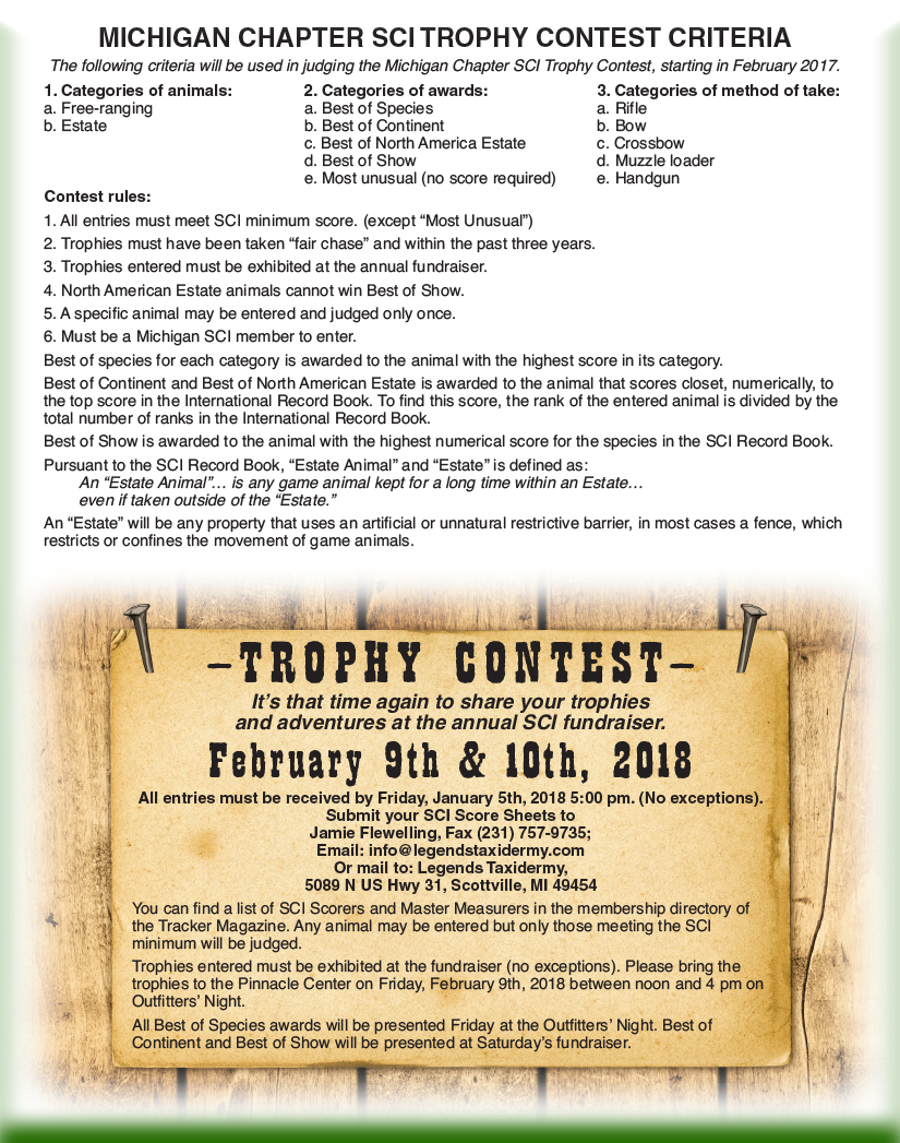 2018 Trophy Contest